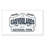 Canyonlands Blue Sign Sticker (Rectangle 50 pk)