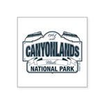 Canyonlands Blue Sign Square Sticker 3