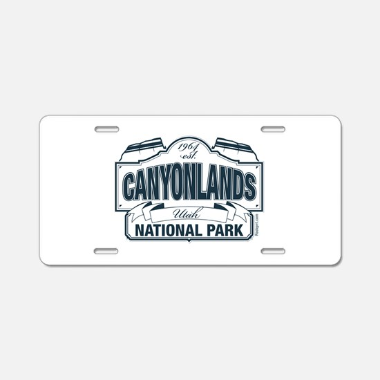 Canyonlands Blue Sign Aluminum License Plate