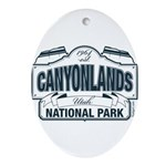 Canyonlands Blue Sign Ornament (Oval)