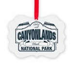 Canyonlands Blue Sign Picture Ornament