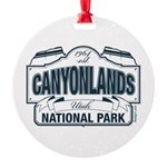 Canyonlands Blue Sign Round Ornament