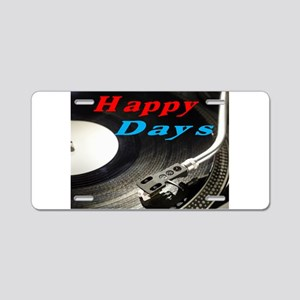 Happy Days Aluminum License Plate