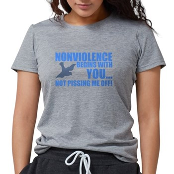 Nonviolence Begins with You.. Womens Tri-blend T-S