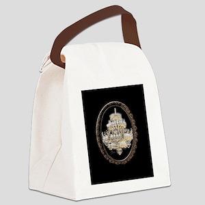 Paris Opera House Chandelier Canvas Lunch Bag