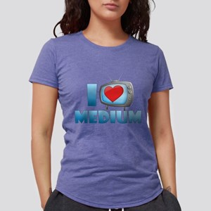 I Heart Medium Womens Tri-blend T-Shirt