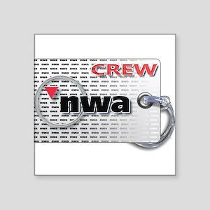 Northwest Airlines Crew Tag Sticker