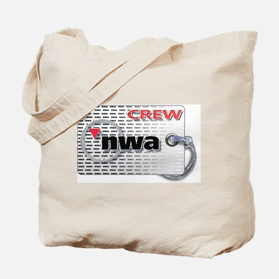 Northwest Airlines Crew Tag Tote Bag