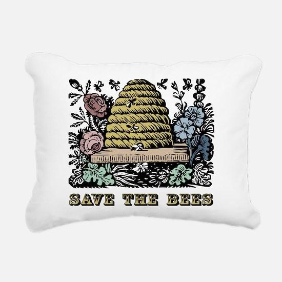 Save The Bees Rectangular Canvas Pillow