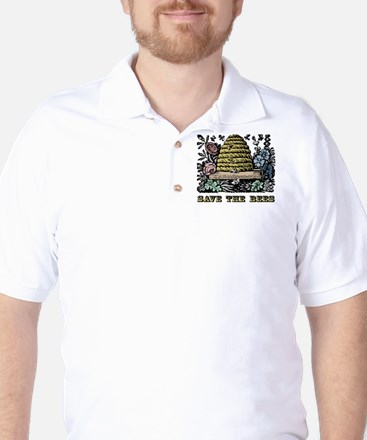 Save The Bees Golf Shirt