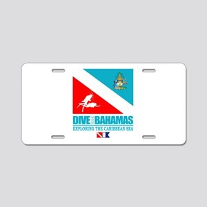 Dive Bahamas Aluminum License Plate