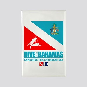 Dive Bahamas Rectangle Magnet