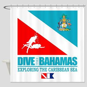 Dive Bahamas Shower Curtain