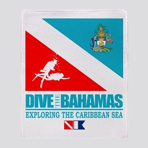 Dive Bahamas Throw Blanket