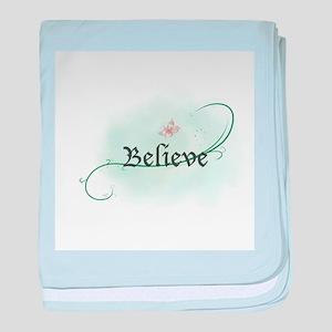 To grow, believe! baby blanket