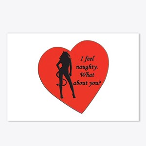 naughty devil Postcards (Package of 8)