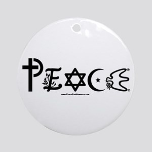 Peace Ornament (Round)