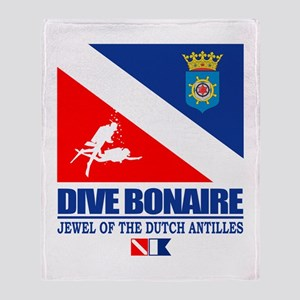 Dive Bonaire Throw Blanket