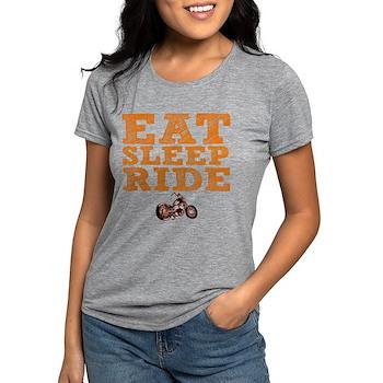 Eat Sleep Ride Womens Tri-blend T-Shirt