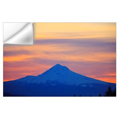 Oregon, United States Of America; Sunrise Over Mou Wall Decal