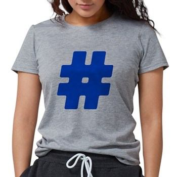 Blue #Hashtag Womens Tri-blend T-Shirt