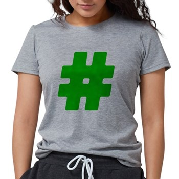 Green #Hashtag Womens Tri-blend T-Shirt