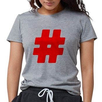 Red #Hashtag Womens Tri-blend T-Shirt
