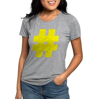 Yellow #Hashtag Womens Tri-blend T-Shirt
