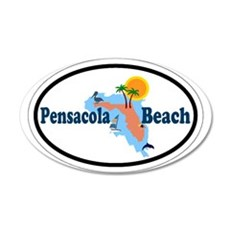 Pensacola Beach - Map Design. Wall Decal