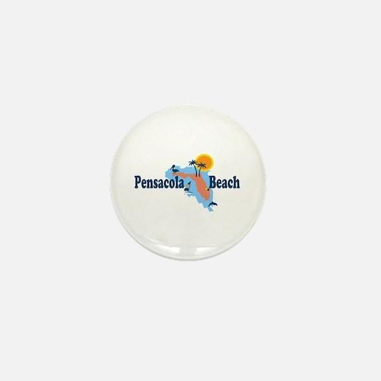 Pensacola Beach - Map Design. Mini Button