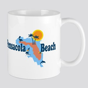 Pensacola Beach - Map Design. Mug