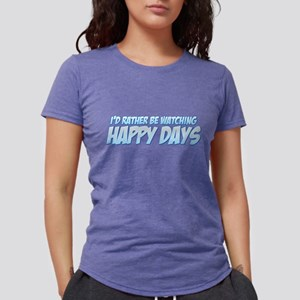 I'd Rather Be Watching Happy Womens Tri-blend T-Sh
