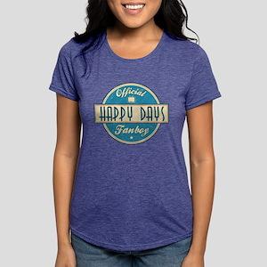 Official Happy Days Fanboy Womens Tri-blend T-Shir