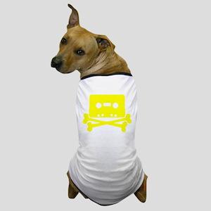 Yellow Cassette And Crossbones Dog T-Shirt