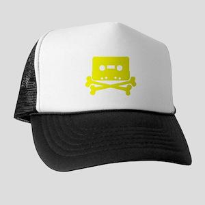Yellow Cassette And Crossbones Trucker Hat