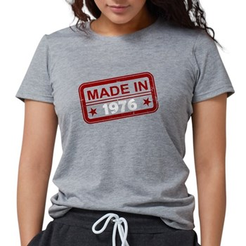 Stamped Made In 1976 Womens Tri-blend T-Shirt