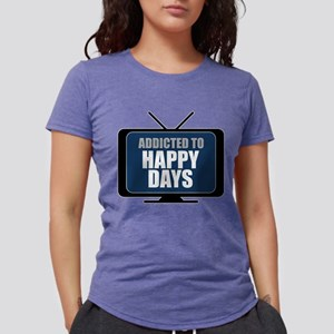 Addicted to Happy Days Womens Tri-blend T-Shirt