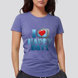 I Heart Happy Days Womens Tri-blend T-Shirt