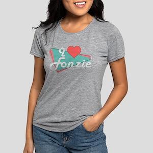 I Heart Fonzie Womens Tri-blend T-Shirt