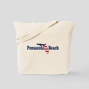 Pensacola Beach - Map Design. Tote Bag