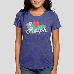 I Heart Ralph Womens Tri-blend T-Shirt