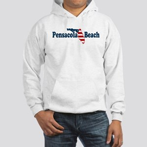 Pensacola Beach - Map Design. Hooded Sweatshirt
