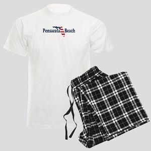 Pensacola Beach - Map Design. Men's Light Pajamas