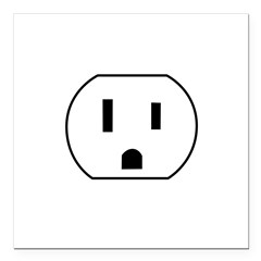 Electrical Outlet Square Car Magnet 3