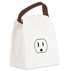 Electrical Outlet Canvas Lunch Bag