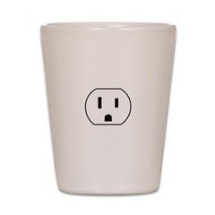 Electrical Outlet Shot Glass