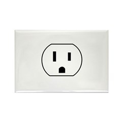 Electrical Outlet Rectangle Magnet (10 pack)