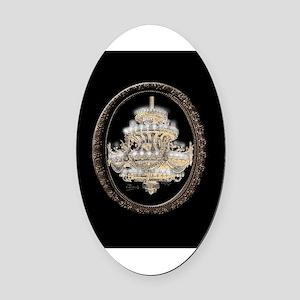 Paris Opera House Chandelier Oval Car Magnet