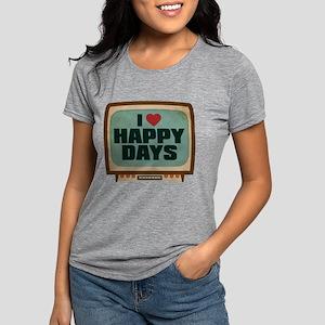 Retro I Heart Happy Days Womens Tri-blend T-Shirt