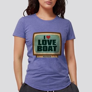 Retro I Heart Love Boat Womens Tri-blend T-Shirt